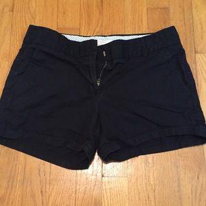Size 2 JCrew chino shorts, black